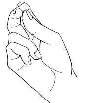 Сложение пальцев при крестном знамении
